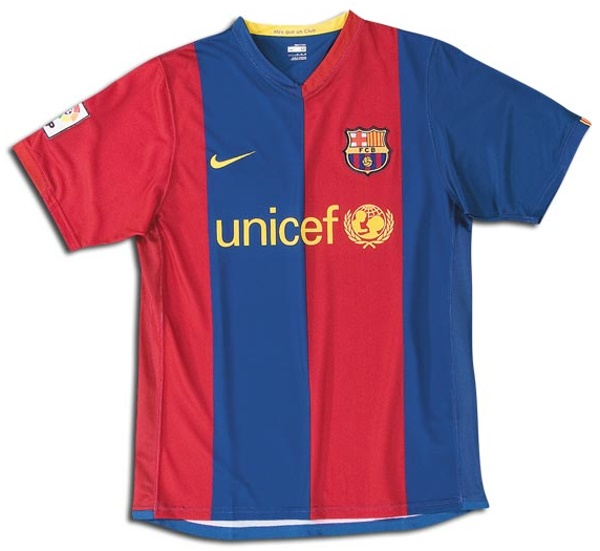 Fc Barcelona Jerseys 2006 2007 Blue And Red Home Jersey