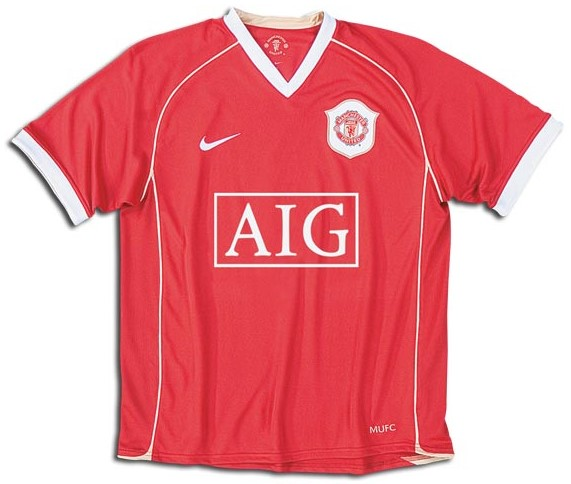 05736dd5864 Manchester United Jerseys  2006-2007 red and white home jersey picture