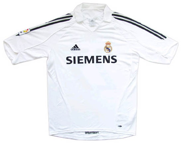 online store 4974c cf022 Real Madrid CF Jerseys: 2005-2006 white and black home ...